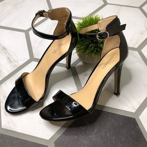 Michael patent leather strappy heels